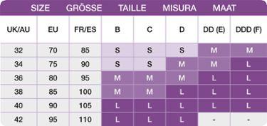 9f49000708c34 Medela size chart for sleep bra