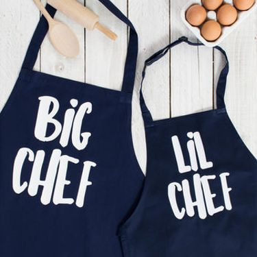 Big / Lil Chef Father And Son Apron Set