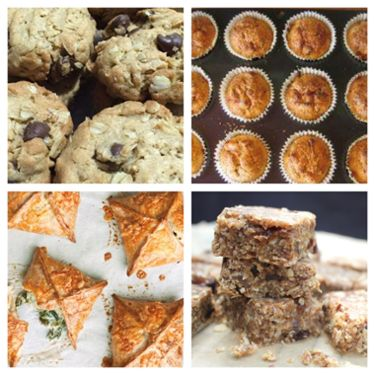 Selection of 4 recipes for Breastfeeding Cafe 2019
