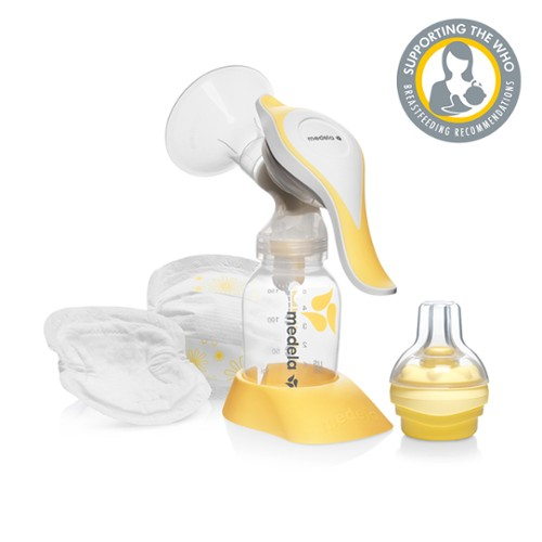 The Medela Harmony pump and feed set comes complete with Calma feeding  device and nursing pads everything you need to start expressing and feeding  baby. d4ddea248af0a